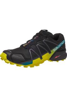 Tênis Salomon Masculino Speedcross 4 Preto/Lime 40
