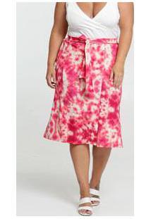 Saia Feminina Clochard Estampa Tie Dye Plus Size