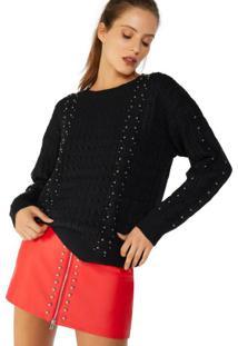 Suéter Com Aplicação