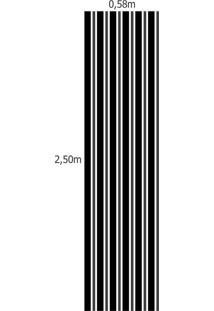 Papel De Parede Adesivo Listrado Preto Com Cinza (0,58M X 2,50M)