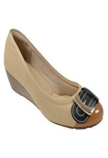 Sapato Salto Baixo Anabela