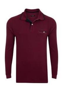 Camisa Polo Pierre Cardin Masculina - Masculino-Vinho