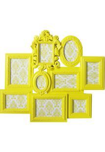 Painel De Fotos- Amarelo- 66,5X58,5X3Cm- Btc Decbtc Decor