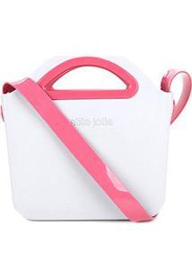 Bolsa Transversal Petite Jolie Flix Feminina - Feminino-Cinza+Rosa