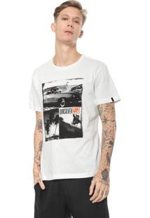 Camiseta Quiksilver Fit Surf Vibes Off-White