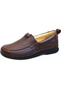 Sapato Masculino Neuroma De Morton Doctor Shoes 3055 Café