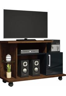 """Rack Para Tv De 26""""Com 1 Porta Smart-Hb Móveis - Canyon / Preto"""