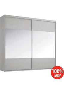 Guarda Roupa 2 Portas C Espelhos Centrais 100% Mdf 1971Elo Branco Tx - Foscarini