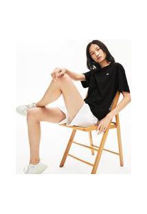 Camiseta Lacoste Regular Fit Preto