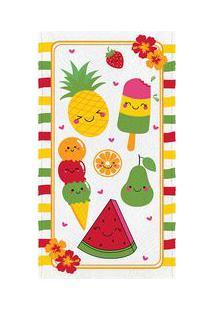 Lepper Toalha De Banho Felpuda Fruit Amarela & Verde 60X110Cm