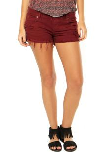 Short Billabong Side Tie Shiraz Vinho
