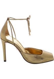 Peep Toe Amarração Gold | Schutz