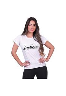 Tshirt Gratidão Camisa Batimento Cardiaco Feminina