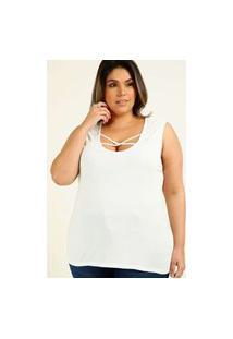 Blusa Plus Size Feminina Tiras Strappy Marisa
