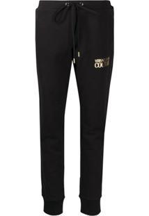Versace Jeans Couture Calça Esportiva Com Logo - Preto