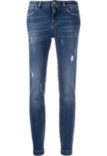 Dolce & Gabbana Calça Jeans Skinny Destroyed - Azul