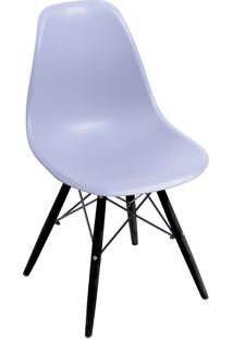 Cadeira Com Base Preta 1102-Or Design - Cinza