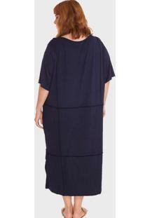 Vestido Overlouco Plus Size Azul