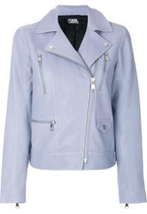 Karl Lagerfeld Jaqueta Biker 'Ikonik' - Azul