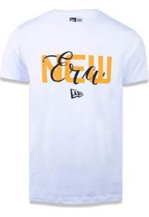 Camiseta New Era Branded Masculina - Masculino-Branco