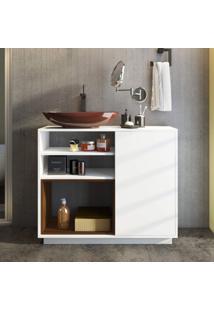 Gabinete Para Banheiro 1 Porta Brisa Estilare Branco