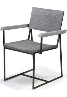 Cadeira York Metal Grafite Cinza 83 Cm (Alt) - 46006 - Sun House
