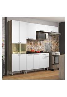 Cozinha Compacta Itatiaia Star Com Pés 8 Portas 1 Gaveta 1 Nicho
