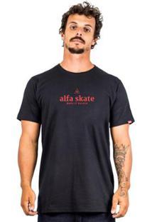 Camiseta Alfa Triangle - Masculino-Preto