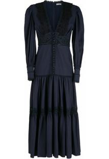 Martha Medeiros Vestido Midi Mariah - Azul