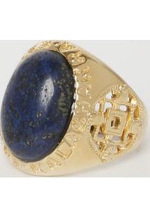 Anel Verano- Dourado & Azul Marinho- Ø5,5X2Cmfabrizio Gianonne