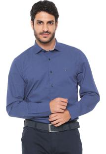 Camisa Tommy Hilfiger Reta Diamond Azul