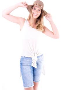 Blusa Regata Gup'S Jeans Tricot Off-White