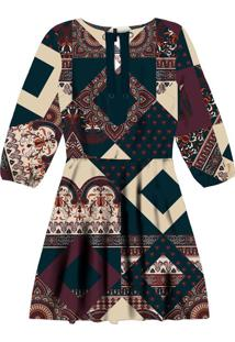 Vestido Mangas 3/4 Estampado Agadir - Lez A Lez