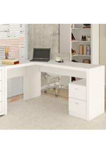 Mesa Para Escritório 2 Gavetas Me4129 Branco - Tecno Mobili