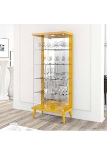 Cristaleira 2 Portas Tifanny Amarelo - Imcal