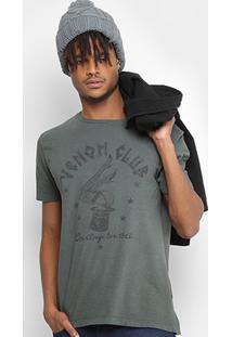 Camiseta Replay Estampada Masculina - Masculino-Marrom