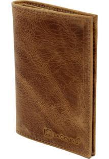 Carteira Compacta Lacouro Em Couro Fossil Whisky Ref 3002