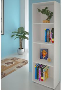 Estante Para Livros Clean 3 Prateleiras Branco 005325 - Artany