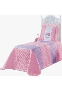 Cobre Leito Solteiro Mirela Kit Quarto Infantil 04 Pã§S Rosa - Multicolorido - Dafiti
