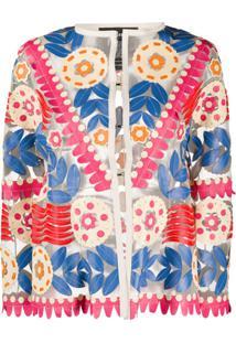 Caban Romantic Jaqueta Floral - Neutro