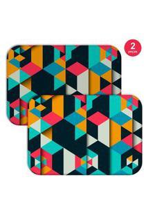 Jogo Americano Love Decor Colorful Polygonal Colorido
