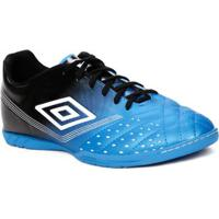 Tênis Futsal Masculino Umbro Fifty Indoor Azul Preto bd1803f45b1fa