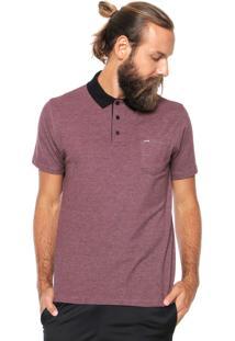 Camisa Polo Hurley Compac Vinho