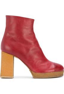 Chalayan Ankle Boot Plataforma - Vermelho