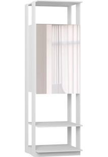 Armário Clothes Com Espelho 2 Pt Branco