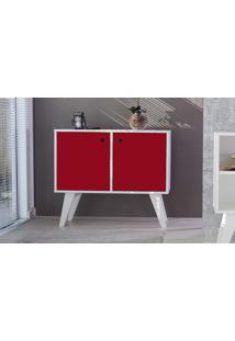 Armário Horizontal 02 Portas Vermelho Cristal 90X38,5X73 Cm