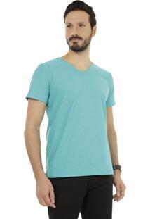 Camiseta Básica Verde Água