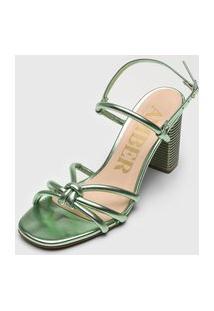 Sandália Amber Metalizada Verde