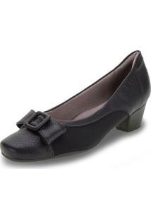 Sapato Feminino Salto Baixo Piccadilly - 320302 Preto 34