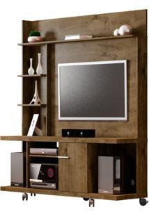 Estante Home Para Tv Até 47 Polegadas 1 Porta Basculante Taurus Móveis Bechara Madeira Rústica